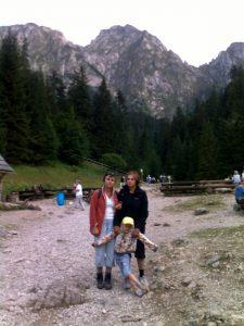 rodzina w górach